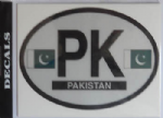 Pakistan Country Flag Oval Decal.